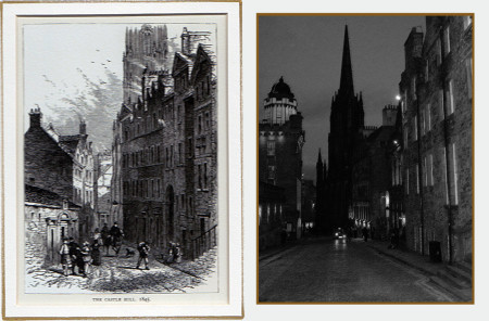 Castle Hill, Royal Mile, Edinburgh: 1845 & 2010